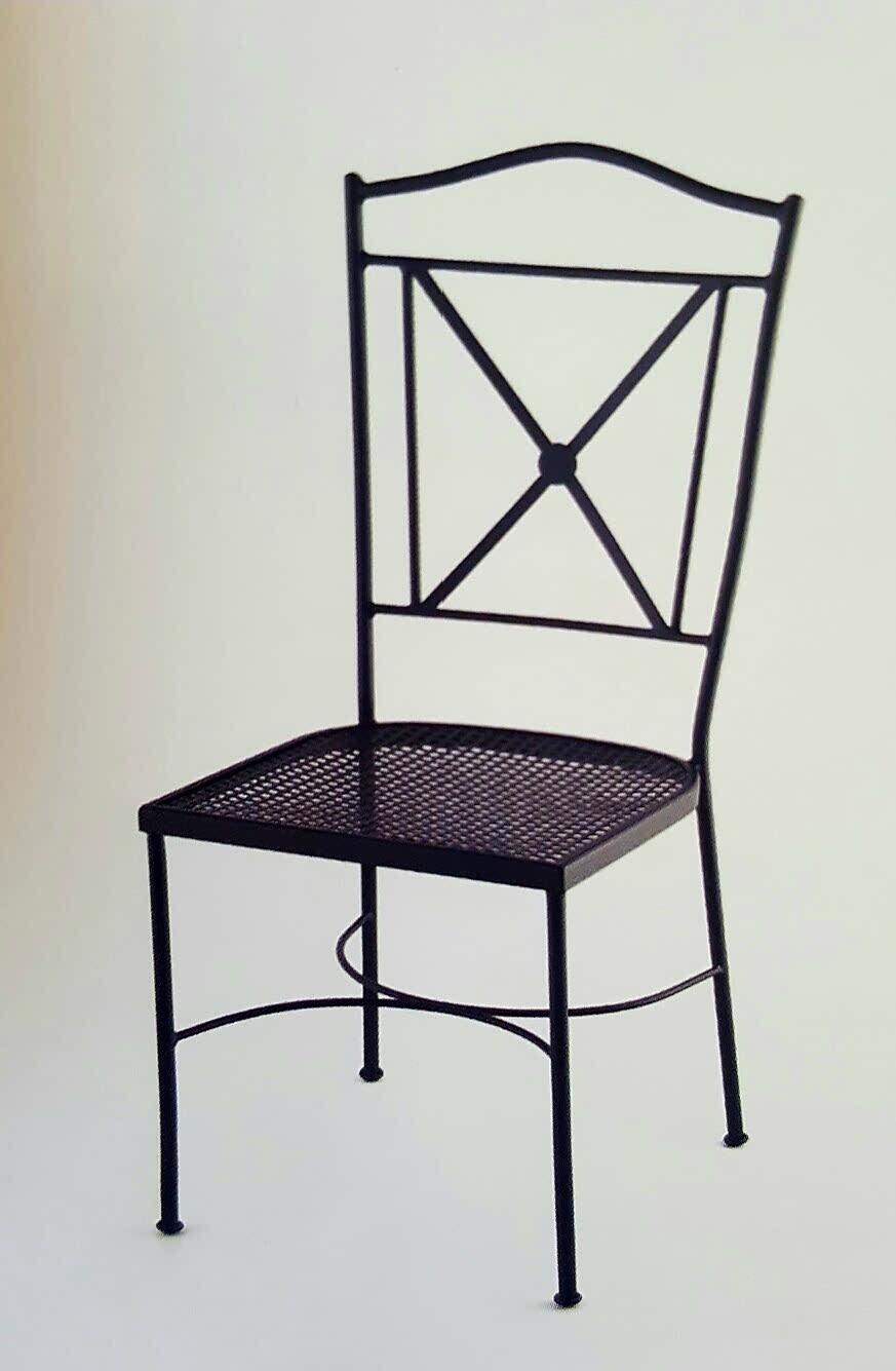 Forja decor jard n silla con asiento de chapa met lica - Chapa metalica perforada ...
