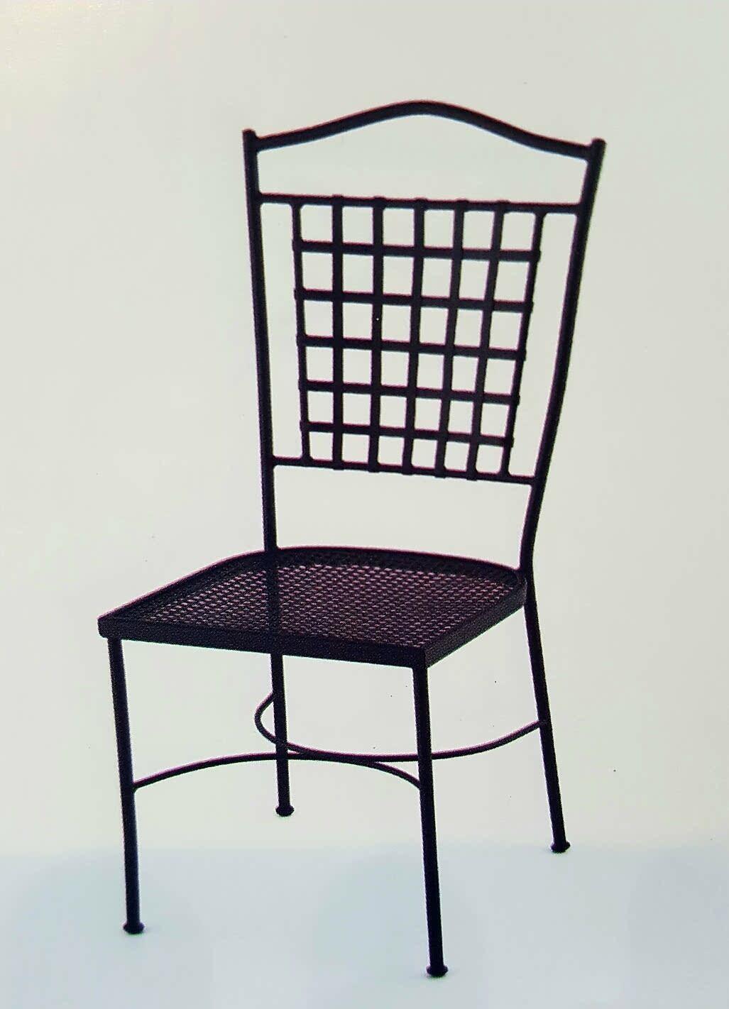Forja decor jard n silla con asiento de chapa met lica - Muebles de chapa metalica ...